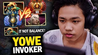 THE DIFFERENCE BETWEEN RANK 90 AND DIVINE 5 | YOWE INVOKER VS HUSKAR MID - DOTA 2 INVOKER