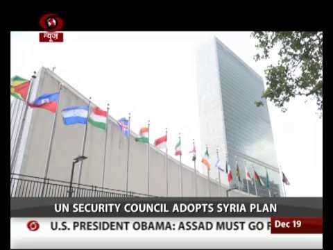 UN Security Council adopts Syria plan
