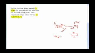 2D Vector Problems & Relative Velocity