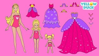 PAPER DOLLS PRINCESS MOTHER & DAUGHTERS CLOTHES SHOES & ACCESSORIES FOR GIRLS