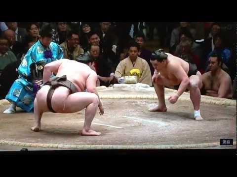 2013 Jan - Day 15 - Hakuho v Harumafuji - final match