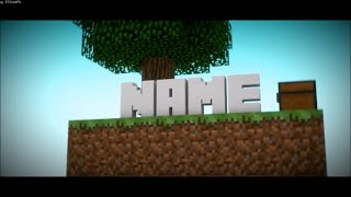 FREE 3D Minecraft Blender Intro Template #527 + Tutorial