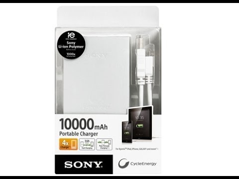 SONY CP-F10L 10000 mAh PORTABLE CHARGER BATTERY BANK REVIEW