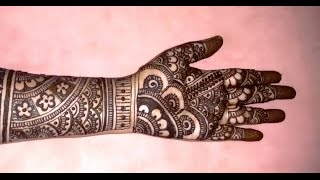 Beautiful Mehndi Designs Bridal Mehndi tutorials-Bridal Henna Designs For Full Hands-2