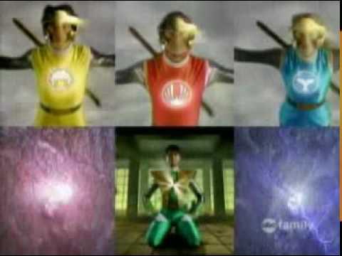 Power Rangers Dino Thunder and Ninja Storm Teamup Morph (Thunder Struck. 2004)