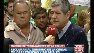 C5N - SOCIEDAD: MARCHA DE TRABAJADORES DE LA SALUD
