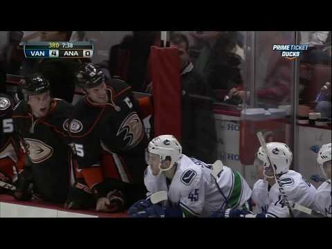 Keith Ballard vs Corey Perry fight 25 Jan 2013 Vancouver Canucks vs Anaheim Ducks NHL hockey