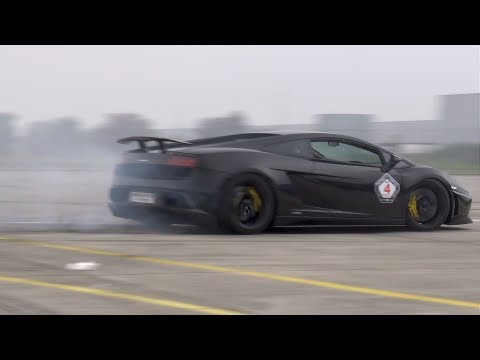 Lamborghini Gallardo Superleggera - REVS. DRAG RACE + BURNOUT!