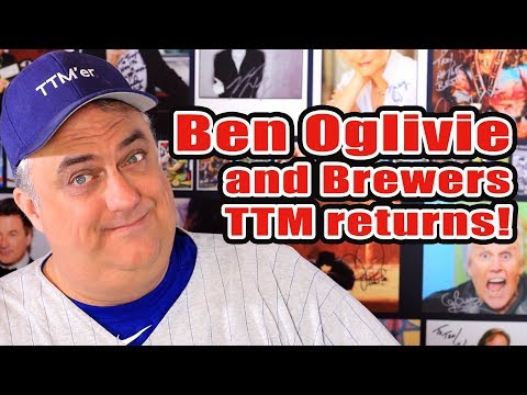 Ben Oglivie and more baseball autographs through the mail (TTM)