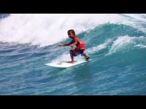6 year old grom surfing hurricane Earl