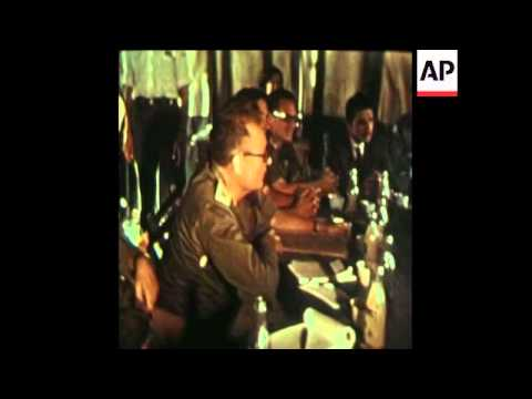 SYND 11-11-73 CEASEFIRE SIGNING BETWEEN ISRAEL AND EGYPT