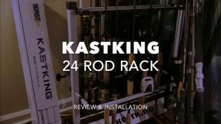 KASTKING 24 Fishing Rod Rack Review and Setup