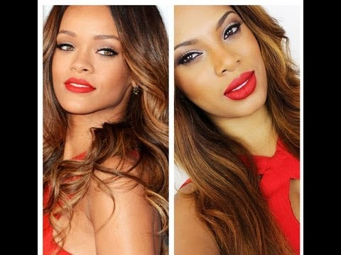 Rihanna Grammy Inspired Makeup Tutorial