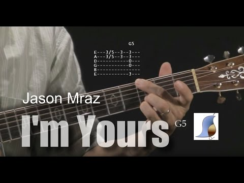 How to play I'm Yours by Jason Mraz - guitar lesson