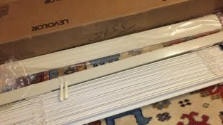 """CUTTING LEVOLOR BLINDS TO SIZE- 2"""" WOOD/METAL HORIZONAL"""