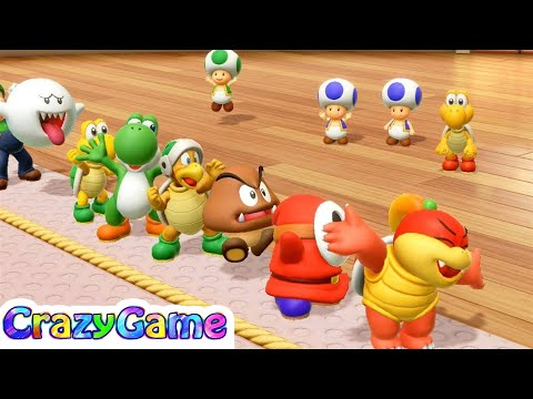 Super Mario Party - All My Favorites Minigame Gameplay (Pom Pom & Shy Guy & Diddy Kong & Jr. Bowser)