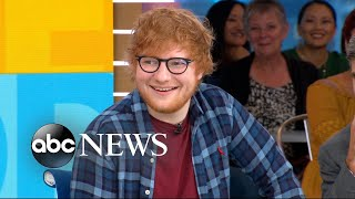 Catching up with Ed Sheeran live on 'GMA'
