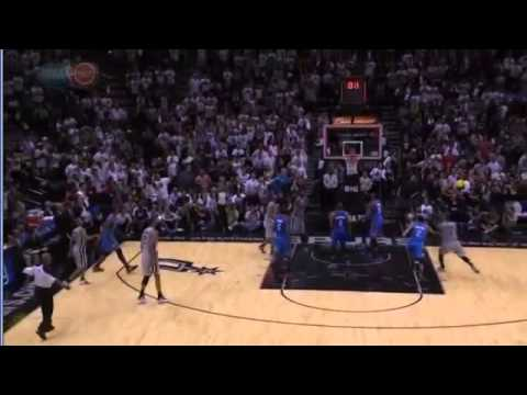 Tony Parker beat the buzzer - Spurs 86-Thunder 84 - regular season 2012/13 1/11/12