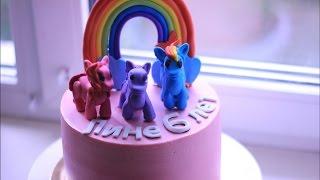 Торт. Рецепт ванильный бисквит на детский день рождения. Крем для выравнивания и украшения