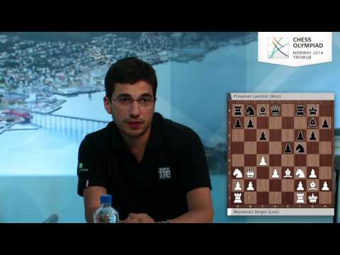 Laurent Fressinet on the Chess Olympiad webcast - Round 3