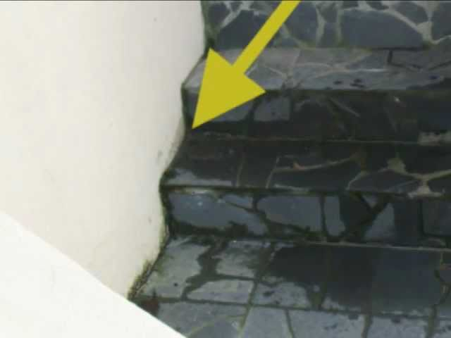 Dangerous Water Sitting On Rock Stairs - Home Improvement Tips