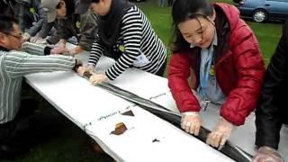 أطول لفافة سوشي في اليابان