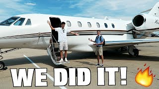 Skipping High School To Ride On a $25M Private Jet!!