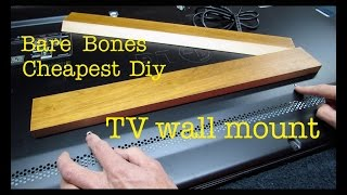How to make ● CHEAPEST FLATSCREEN TV WALL MOUNT