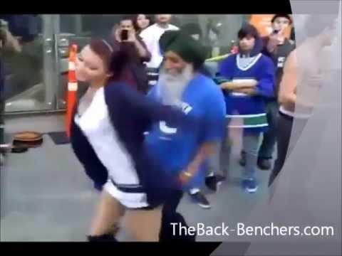 Punjabi Tharki Baba Dance With Gori (hot Chick) - Baba Ve video