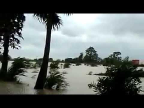 Flood in Hati River in Junagarh Kalahandi, Odisha
