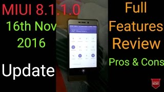 MIUI 8.1.1.0 Update on Redmi 3s or 3s prime full features PROs & CONs [Hindi]