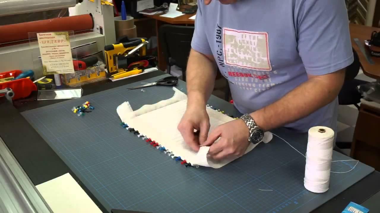 Натянуть вышивку мастер класс