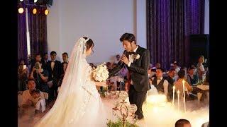 Đám cưới Anh Tài - Vũ Ngọc Ánh: Chú rể nắm tay hát tặng cô dâu trong hôn lễ lãng mạn