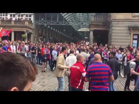 Crystal Palace fans take over London's top tourist spot ahead of FA Cup Final against Man United