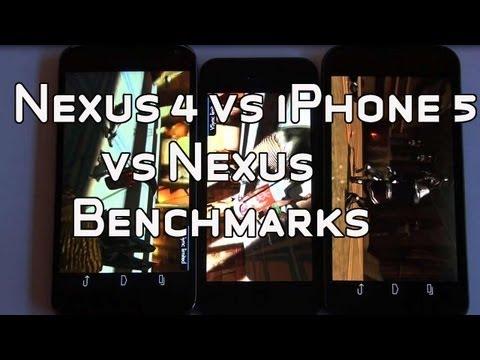 Nexus 4 vs iPhone 5 vs Galaxy Nexus - Benchmark Side by Side