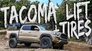 """Tacoma Lift + Tires - """"Hey Mike, what lift and tires you runnin???"""""""