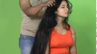 Download See The Best Long Hair Massage by Man of A Very Beautiful Lady 3Gp Mp4