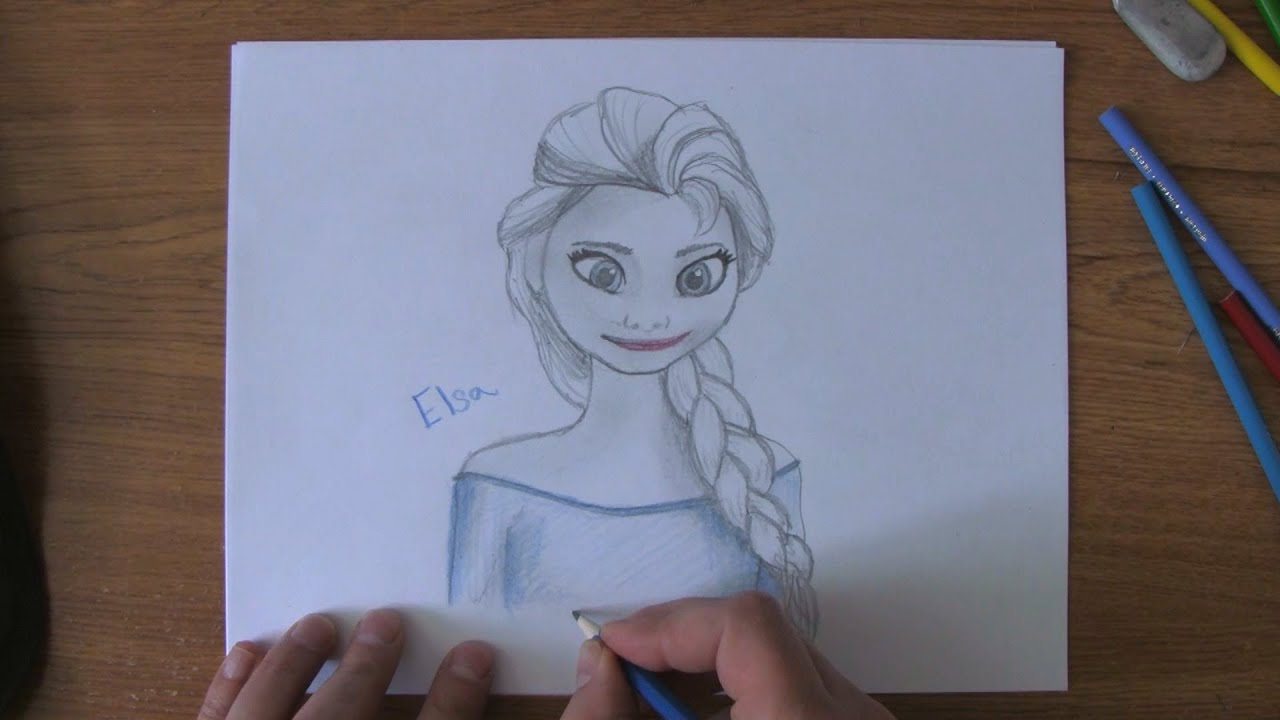How to Draw Elsa from Frozen - YouTube