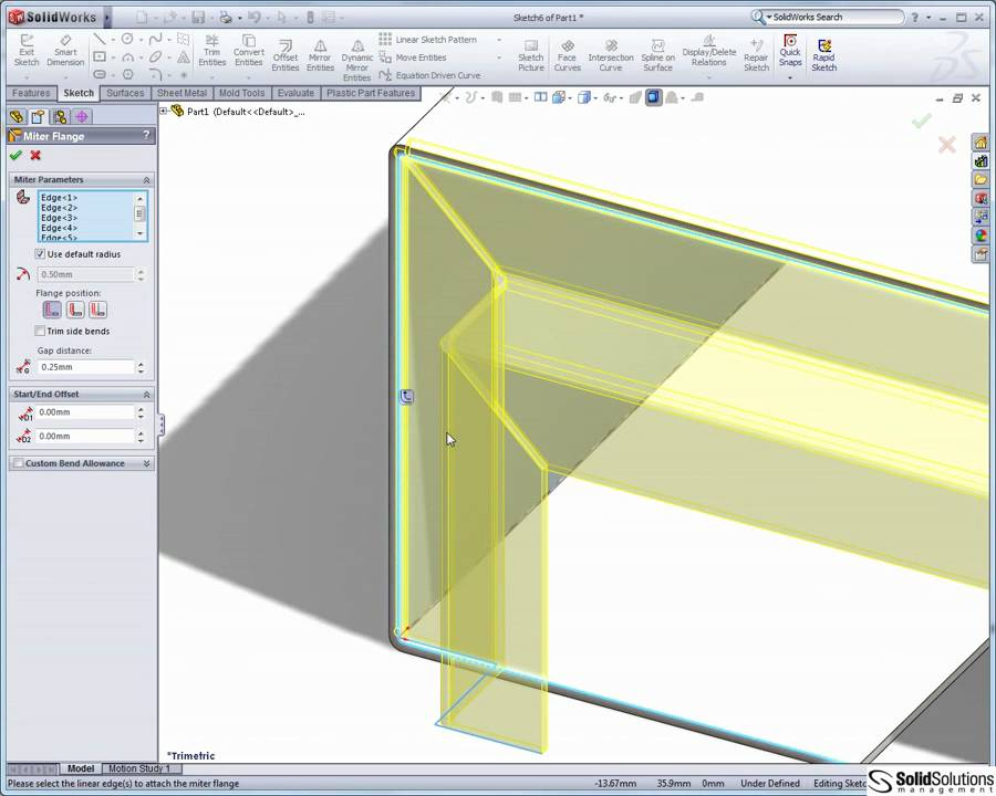 Sheet Metal In Solidworks Youtube
