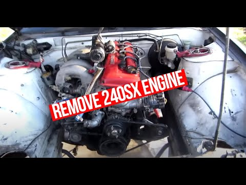 240SX How to Remove KA24DE Engine and Transmission