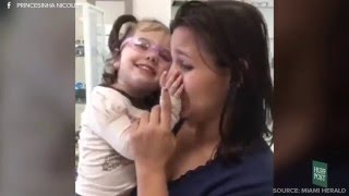 Blind Girl Sees Mom For The First Time