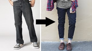 how to make any pants cuffed