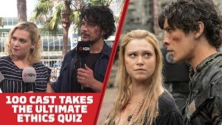 Eliza Taylor and Bob Morley Take The Ultimate Ethics Quiz - Comic Con 2018