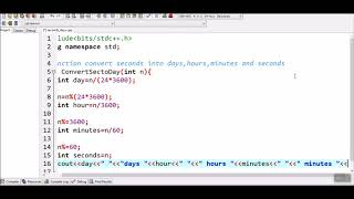 How to Convert seconds into days, hours, minutes and seconds in c++