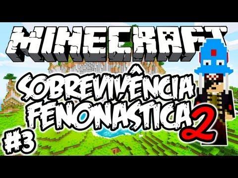 Ataque à Vila Subterrânea!!! - Sobrevivência Fenonástica 2: Minecraft #3