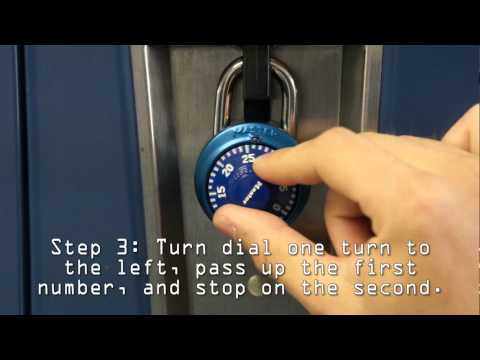 How To Open 3 Number Combination Lock
