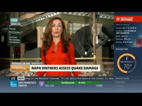Monique Soltani Live Report on The Weather Channel: Napa Valley Earthquake Coverage for AMHQ
