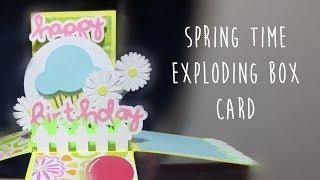 Exploding Box Card - Spring Break Springtime Happy Birthday Card