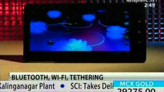 Karbonn Smart Tab 1 review at NDTV Profit - 21st July 2012-02.49pm-