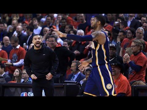 Drake Yells At Paul George During Raptors vs. Pacers Game, Blasts Him on Instagram